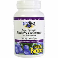 Bluerich - 90 - 500mg Softgels By Natural Factors - Blueberry Concentrate