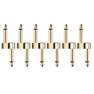 Donner-Pedal-Coupler-Z-Type-Guitar-Effect-Connector-1-4-inch-6-Pack-Metal