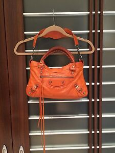 códigos de cupón mejor servicio tiendas populares Details about Balenciaga Classic First Mini City Shoulder Bag Satchel  Orange Tangerine