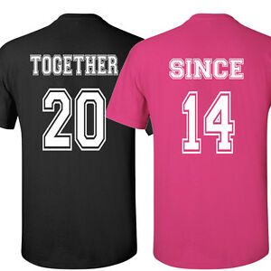 image is loading couple t shirts together since love shirt valentine - Valentines Day T Shirts
