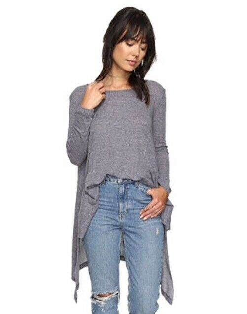 NWT  Free People Incredible Thermal Tee Denim bluee Size Small