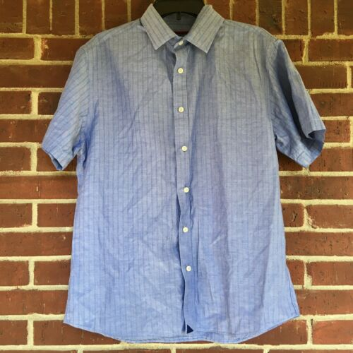 Untuckit Men  Light Denim Blue Button Down Shirt S
