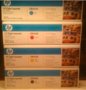 Genuine HP CB540A BLACK Print Cartridge New Unopened Factory Sealed Box