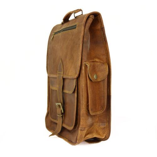 New Men/'s Vintage Rucksack School Bag Travel Satchel Leather Laptop Bag Backpack