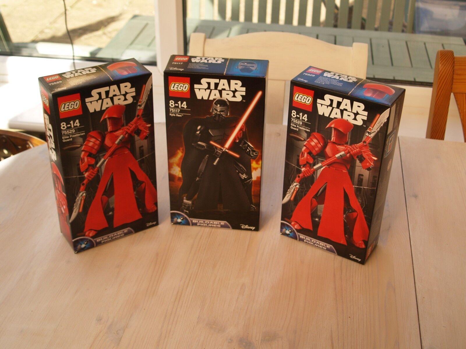 BNIB Lego Star Wars Buildable Figures Praetorian Guards X2 + Kylo Ren