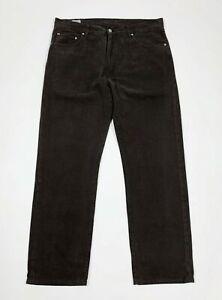 Lacoste-jeans-luxury-uomo-usato-W38-tg-52-F46-gamba-dritta-boyfriend-denim-T5847