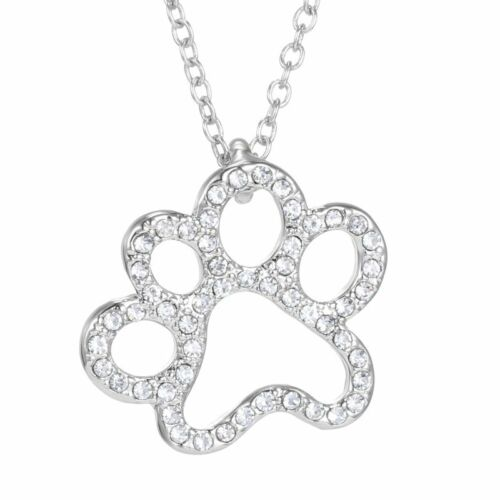 1Pcs Chic Style Dog Paw Silver Chain Pendant Women Necklace Jewelry Charm Gifts