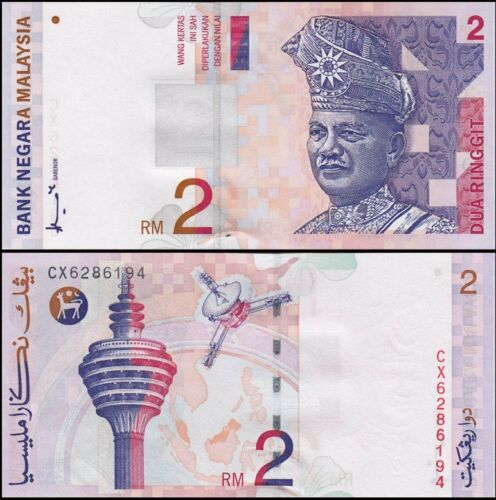 1996 Malaysia 2 Ringgit UNC Banknote P 40