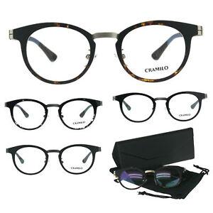 d0a3ccbf607a Image is loading Optical-Quality-Round-Horn-Rim-Minimal-Designer-Eyeglasses-