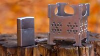 Little Mouse Portable Stainless Steel Folding Wood Stove Pocket Outdoor Cooking