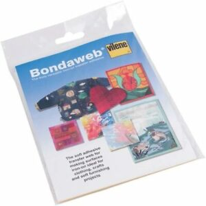 Vilene Bondaweb carta sostenuta fusibili Web ferro su trasferimento adesivo 17.5cm x 1.2M