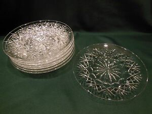 "Vintage Webb Corbett Crystal 8-1/4"" Salad Plate(s) GEORGIAN Cut Excellent"
