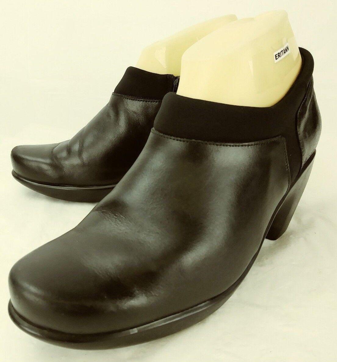 Naot donna scarpe US 7 EU 38 nero Leather Textile Textile Textile Zip Clogs Heels Shooties 5161 f9260a