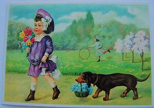 Postkarte-Nostalgisch-romantische-Motive-Anlass-Karte-Glueckwunsch