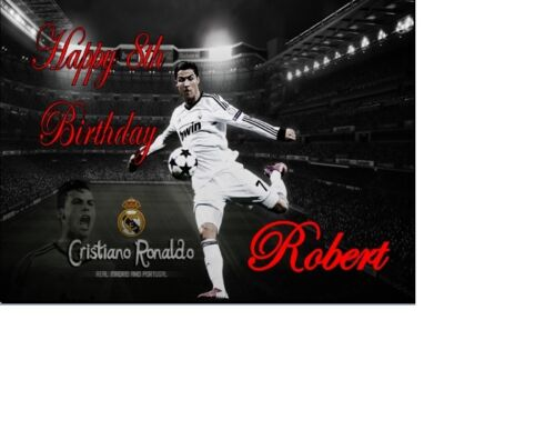Personalised Cristiano Ronaldo Real Madrid Portugal Birthday Card A5
