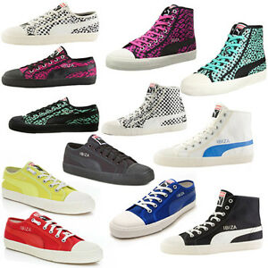 Puma Ibiza Animal Mid Low Unisex Lace Up Canvas Trainers