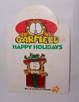 Cool & Colorful Garfield Peeking Ouf Of A Christmas Present Pin