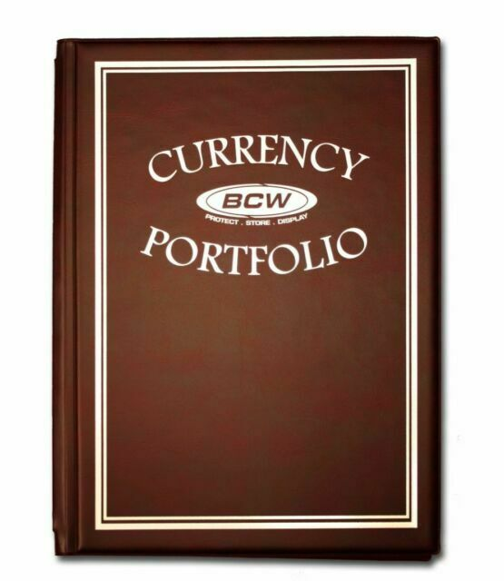 Binders Case of 18 BCW Currency Portfolios with Bill Pages Black Albums