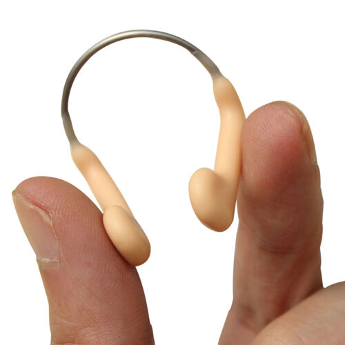 1x Adults Nose Clip Sprung Soft Latex Covered For Swimming Study Portable Tackle