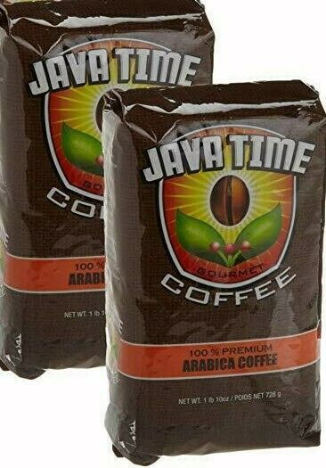 Best Ground Coffee 2021 2 Java Time Gourmet Ground Coffee 26 oz 100% Premium ARABICA