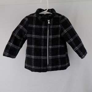 374ba4cd8 Cherokee Toddler Girls 18M Dress Casual Winter Jacket Pea Coat Black ...