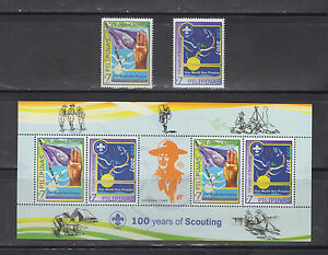 Philippine Stamps 2007 Scouting 100 Years Complete Set, Mint Never hinged.