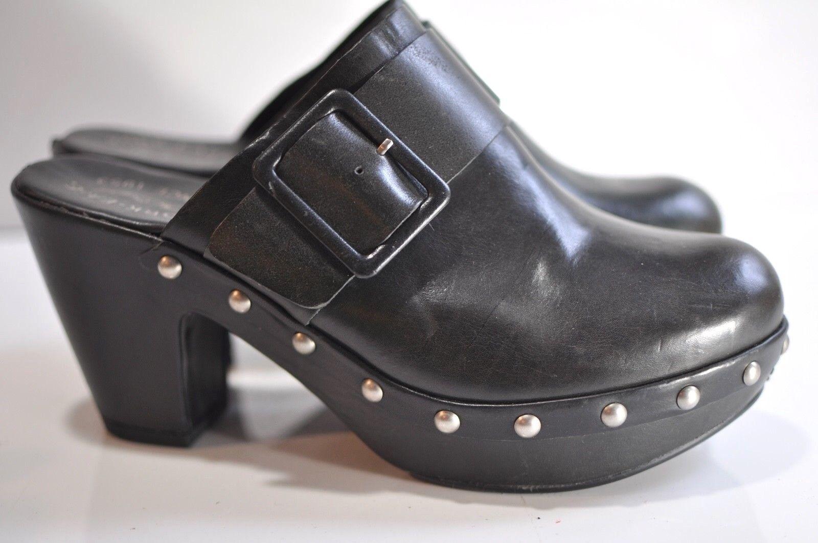 Kork-Ease damen Studded schwarz leather clog Größe 10 M EU 42