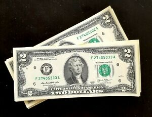 Porte-bonheur-2-Dollars-americain-NEUF-LIVRAISON-GRATUITE