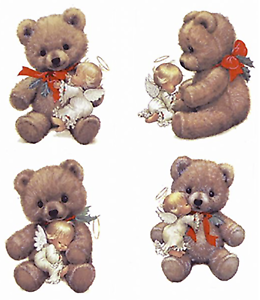 Christmas-Angel-Teddy-Bear-Select-A-Size-Ceramic-Waterslide-Decals-Ox