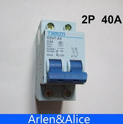 2P 40A 400V~ 50HZ//60HZ Circuit breaker AC MCB safety breaker C type