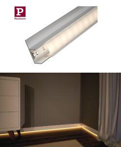paulmann socle fu leisten profil f r led strips mit diffusor 1m oder 2m alu neu ebay. Black Bedroom Furniture Sets. Home Design Ideas