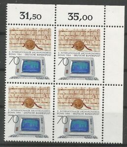 Federal-Frg-Minr-1224-Mint-Block-of-Four-Corner-2-Unfolded