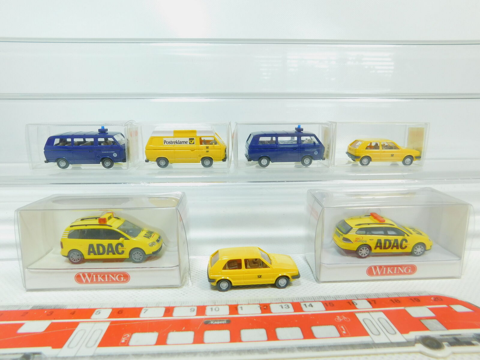 Bn94-0, 5 x Wiking H0   1 87 vw-modell  078 0078 ADAC + THW + Post, Mint + 6x