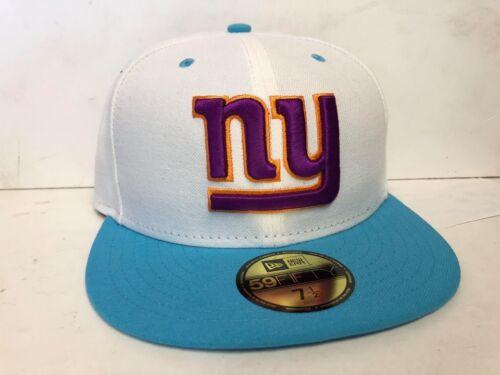 Various Sizes A43 NEW ERA NFL NY NEW YORK GIANTS White Neon Crown Baseball Cap