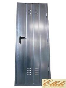 porta per cantina garage zincata con maniglia e serratura varie