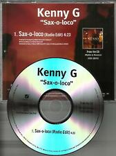 KENNY G Sax o Loco w/ RARE EDIT TST PRESS PROMO DJ CD Single USA 2008 saxoloco