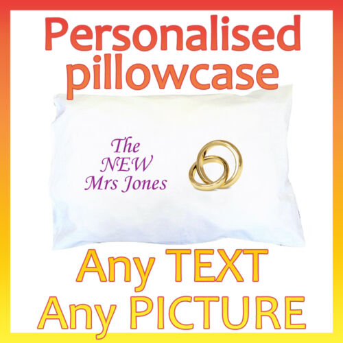 Valentine/'s Day Personalised Pillowcase ~ Any Photo ~ Any Text ~ Great gift