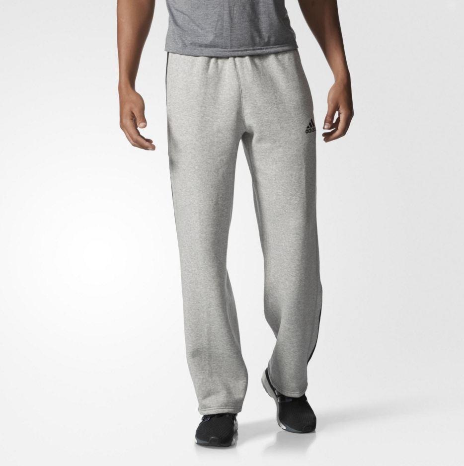 Pantalon de survêtement en polaire de coton Adidas Essentials pour hommes, taille S; M, taille G; M GryBlk