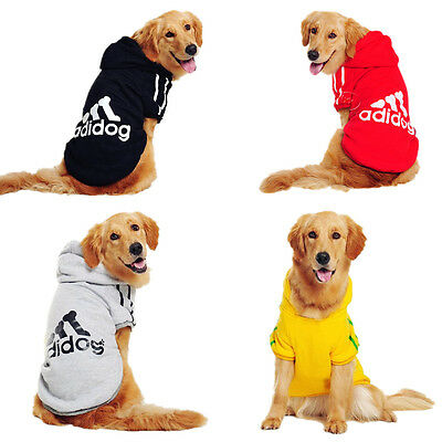 3XL-9XL Large Big Pet Clothes Dog Puppy Warm Sweater Hoodie custome Coat Jacket