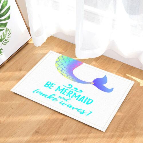 Mermaid Colorful Tail Bathroom Waterproof Fabric Shower Curtain /& Hook 71*71inch