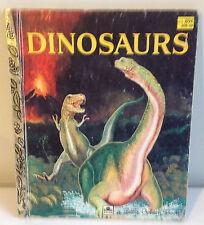 DINOSAURS - LITTLE GOLDEN BOOKS - Brontosaurus - Tyranosaurus Rex - Brachiosaur