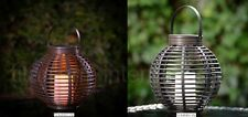 Rattan Effect Solar LED Candle Table Lamp Garden Patio Balcony Decor Light