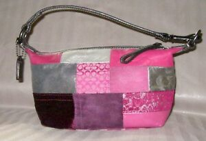 90019ff5fa Image is loading COACH-Holiday-LEGACY-Patchwork-Demi-Baguette-Bag-Size-