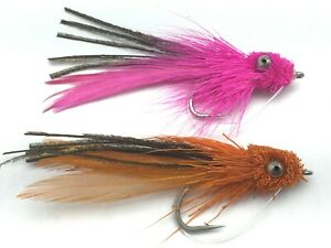 X6 Candy Eel Fly Pearl Saltwater Fly Seatrout Bass Pollock Size 1