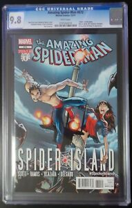 Amazing-Spider-Man-672-Marvel-Comics-CGC-9-8-White-Pages-034-Death-034-of-the-Queen