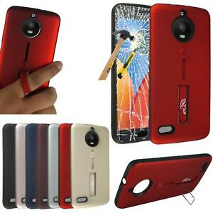 official photos 0fdaa ea8f3 Details about For Motorola Moto E4 Plus New Gel Ring Stand Phone Case Cover  + Tempered Glass