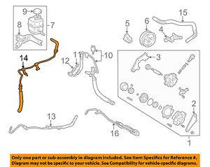 s l300 toyota oem 97 01 camry power steering return hose lower 4440606050