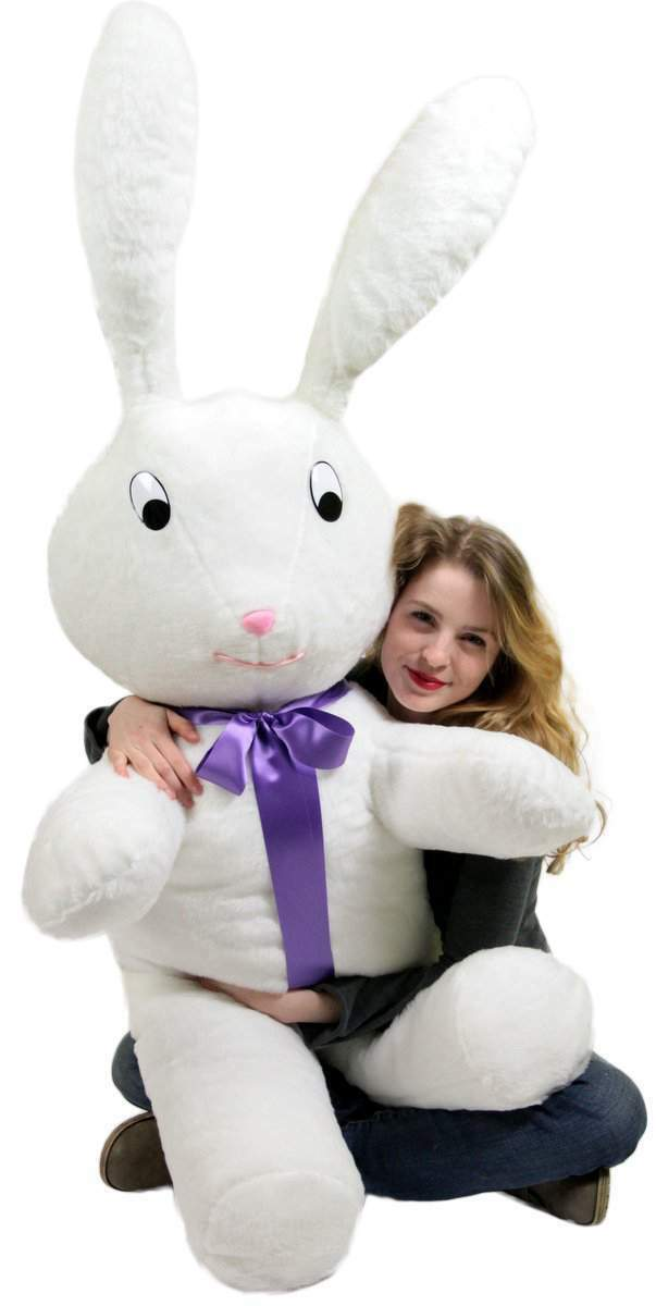 American Made Giant Stuffed Bunny 60 Inch Soft Big Plush 5 ft Rabbit Made in USA