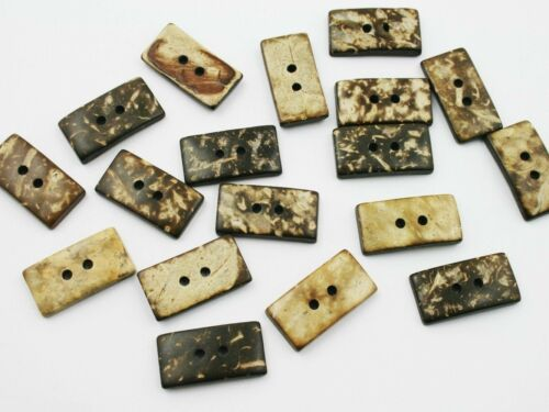 noix de coco noix de coco Bouton 5 boutons 23x12x4mm rectangle