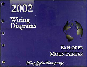 2002 ford explorer mercury mountaineer wiring diagram manual 4 door rh ebay com